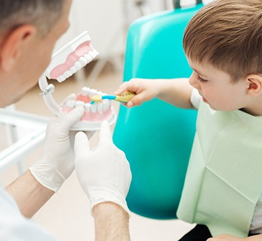 boy at dental appointment
