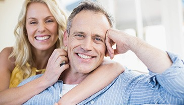 Man and woman with healthy smile